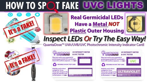 how-to-tell-if-uvc-light-fake-UV-card-uvc-led-light-fake-germicidal-led-test-strip-quantadose-uv-indicator-card