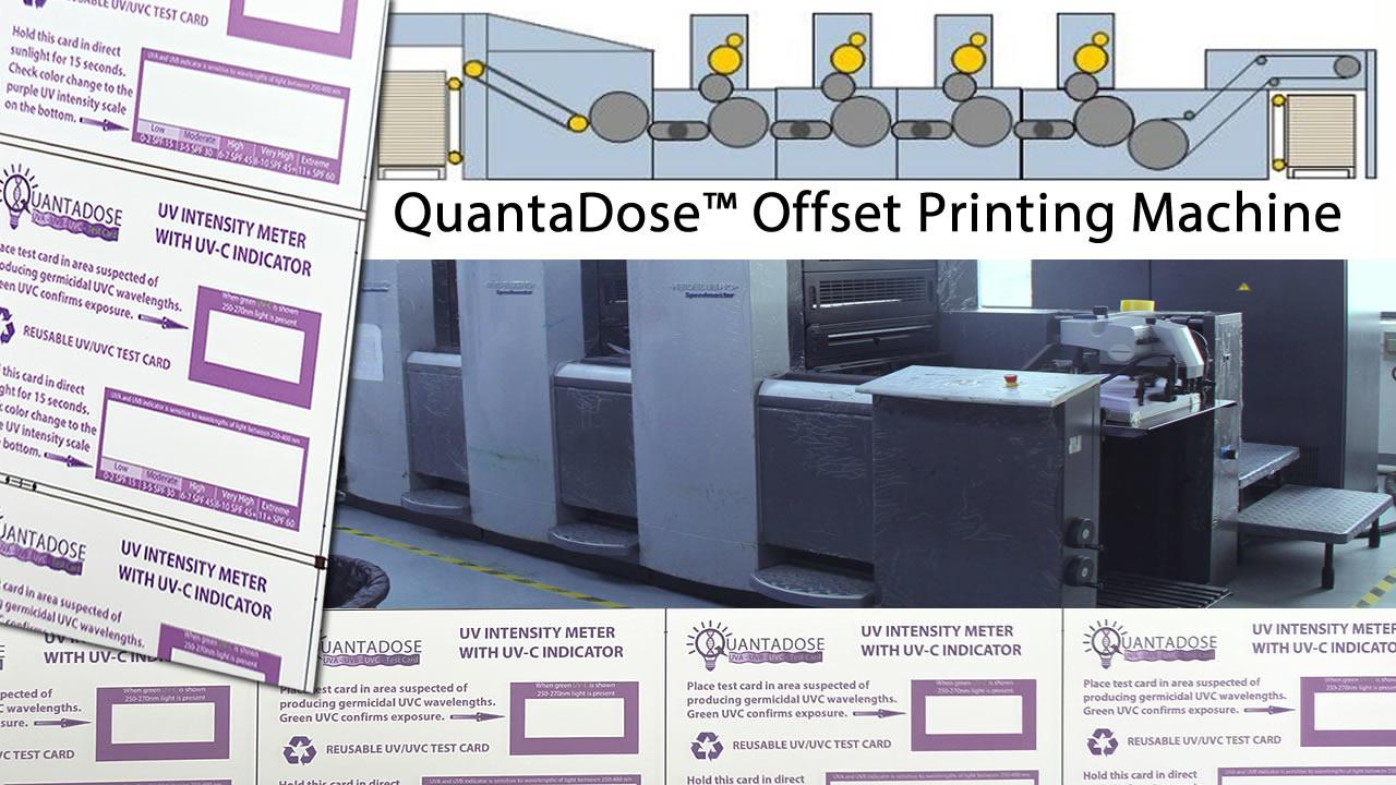 Quantadose-uvc-light-test-card-offset-printing-machine